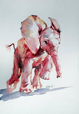 Elephant Art Print by Kovacs Anna Brigitta