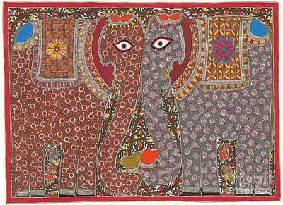 Painting - Elephants by Neeraj kumar Jha