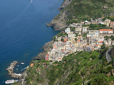 Elevated View Of The Riomaggiore, La Art Print by Panoramic Images