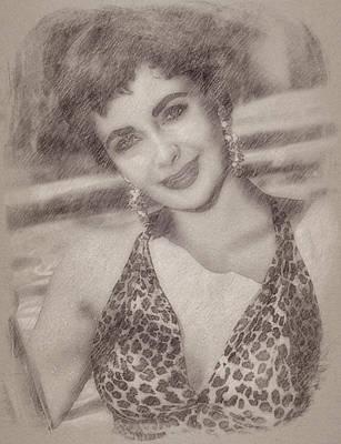 Elizabeth Taylor Art Print by Esoterica Art Agency