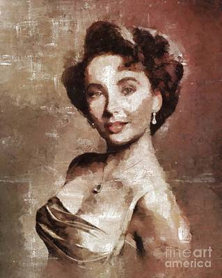Elizabeth Taylor Hollywood Actress Art Print by Mary Bassett