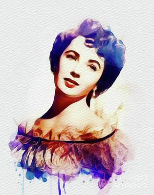 Actors Royalty-Free and Rights-Managed Images - Elizabeth Taylor, Movie Legend by John Springfield