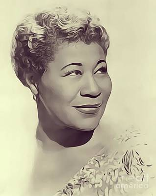 Music Royalty-Free and Rights-Managed Images - Ella Fitzgerald, Music Legend by Esoterica Art Agency