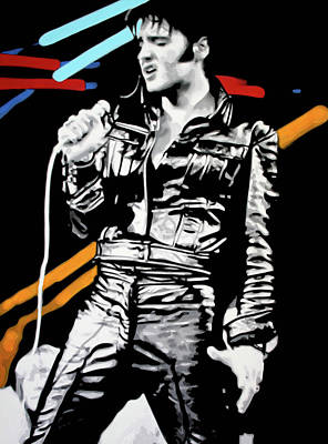 Elvis Art Print by Luis Ludzska