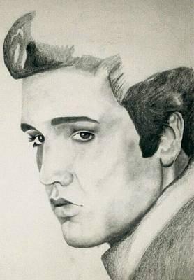 Elvis Presley Drawing Drawing - Elvis by Mikayla Ziegler
