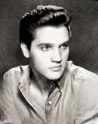 Music Royalty-Free and Rights-Managed Images - Elvis Presley, Music Legend by John Springfield by Esoterica Art Agency