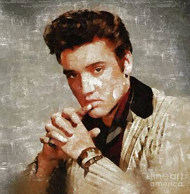 Rock And Roll Paintings - Elvis Presley y MB by Mary Bassett