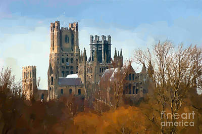 Cambridge Photograph - Ely Cathedral In City Of Ely by Andrew Michael