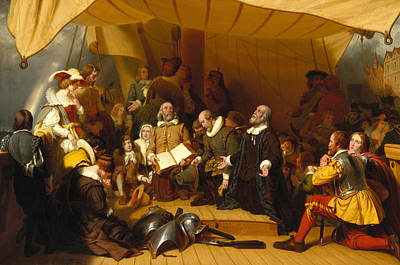 Embarkation Of The Pilgrims Art Print