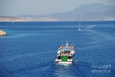 Photograph - Emborio Harbour On Halki by David Fowler