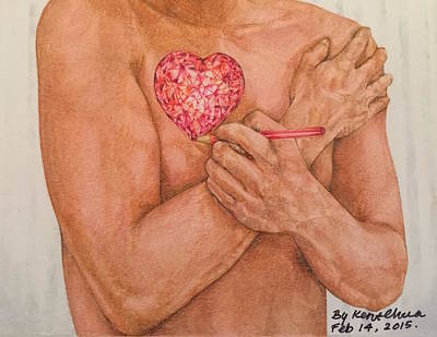 Color Pencil Drawing - Embrace Love by Kent Chua