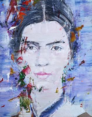 Painting - Emily Dickinson - Oil Portrait by Fabrizio Cassetta