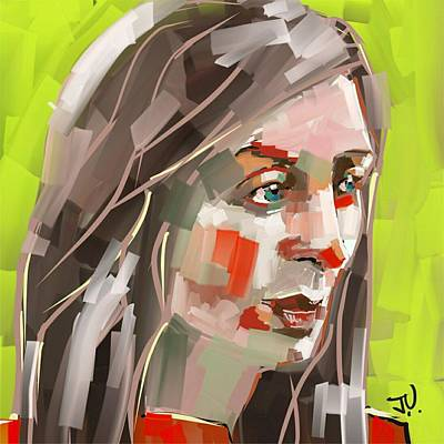Digital Art - Emily by Jim Vance