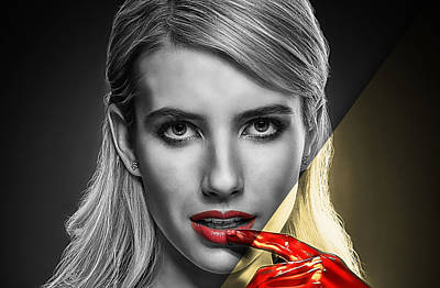 Mixed Media - Emma Roberts Collection by Marvin Blaine