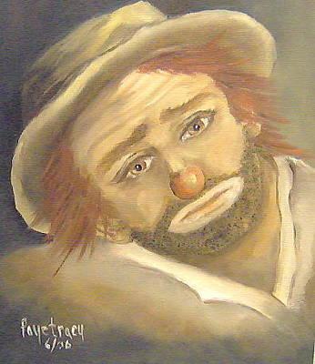 Emmett Kelly Painting - Emmett Kelly by Faye Tracy