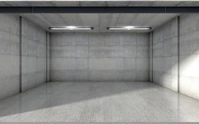 Empty Double Garage Art Print by Allan Swart