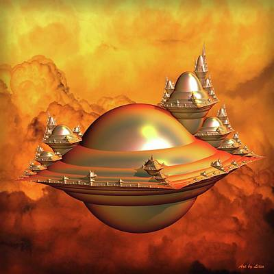 Encapsulated Space City Art Print by Lilia D