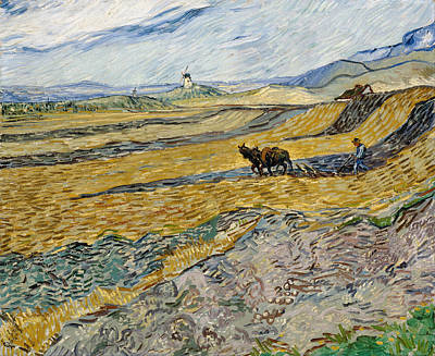 Painting - Enclosed Field With Ploughman by Vincent Van Gogh