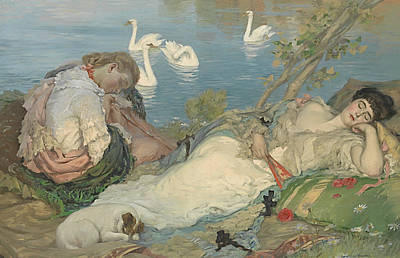 Painting - Endormies by Rupert Bunny