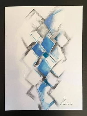 Drawing - Energy,abstract Art Print. by Kanako Kumamaru