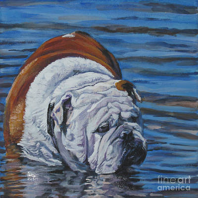 A Dog A Day Painting - English Bulldog by Lee Ann Shepard