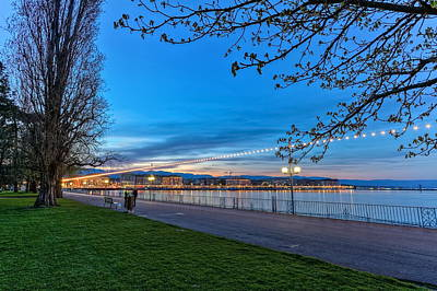Photograph - English Garden Promenade, Geneva, Switzerland, Hdr by Elenarts - Elena Duvernay photo