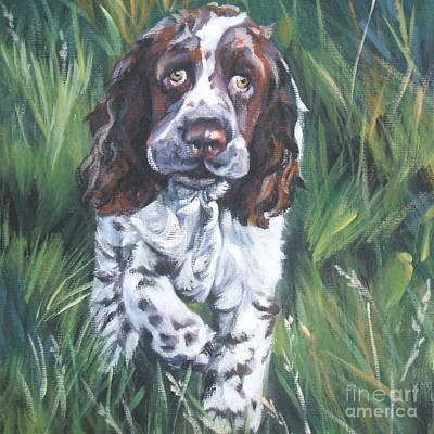 Painting - English Springer Spaniel by Lee Ann Shepard