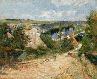 Caravan Painting - Entrance To The Village Of Osny by Paul Gauguin