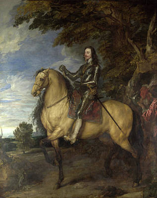 Riding Painting - Equestrian Portrait Of Charles I by Anthony van Dyck