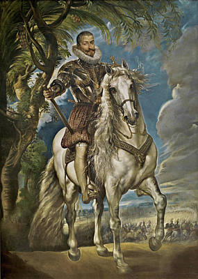 Court Painting - Equestrian Portrait Of The Duke Of Lerma by Peter Paul Rubens