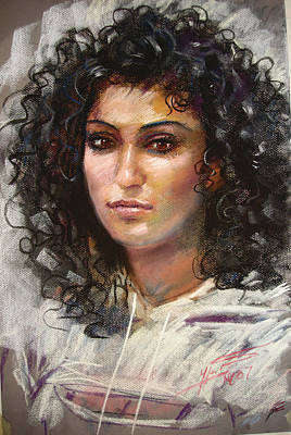 Pastel Portraits Pastel - Erbora by Ylli Haruni