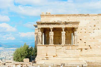 Photograph - Erechtheion Temple On Acropolis Hill, Athens Greece. by Marek Poplawski