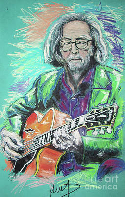 Eric Clapton Wall Art - Drawing - Eric Clapton by Melanie D
