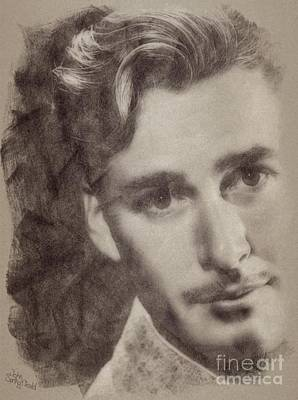 Errol Flynn, Vintage Hollywood Actor Art Print