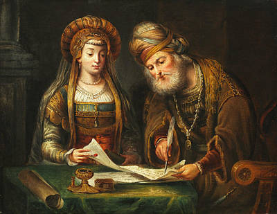 Esther And Mordecai Art Print