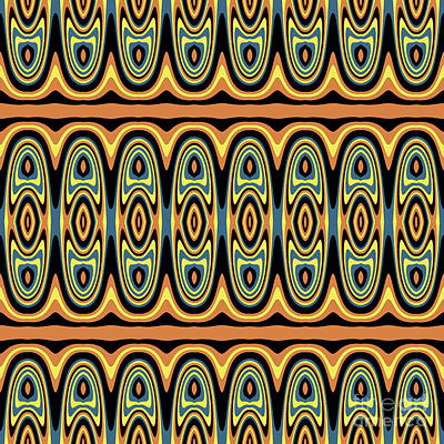 Ethnic Geometric Pattern Art Print