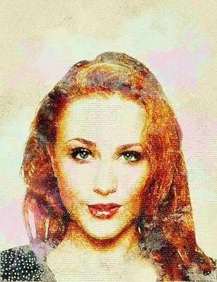 Dolores Digital Art - Evan Rachel Wood Art by Best Actors