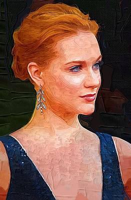 True Blood Digital Art - Evan Rachel Wood Print by Best Actors