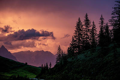 Sundown Photograph - Evening In The Alps by Nailia Schwarz