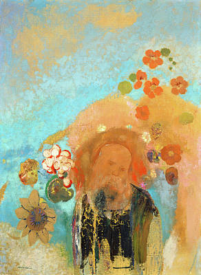Post-impressionism Painting - Evocation Of Roussel by Odilon Redon