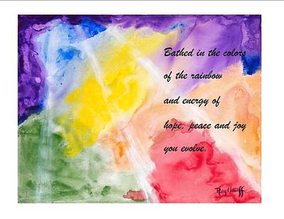 Painting - Evolving - Spiritual Art Poster With A Message by Pat Heydlauff