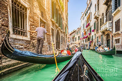 Exploring Venice Art Print by JR Photography