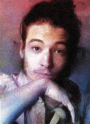 Ben Affleck Digital Art - Ezra Miller by Best Actors