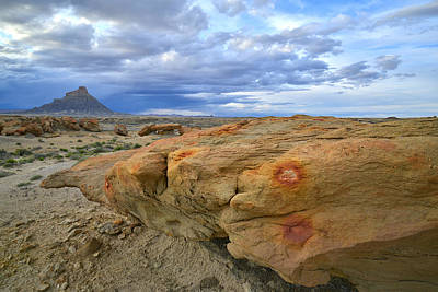 Photograph - Factory Butte And Luna Mesa by Ray Mathis