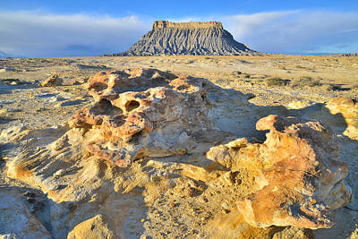 Photograph - Factory Butte Rock Garden by Ray Mathis