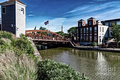 Photograph - Fairport Lift Bridge by William Norton