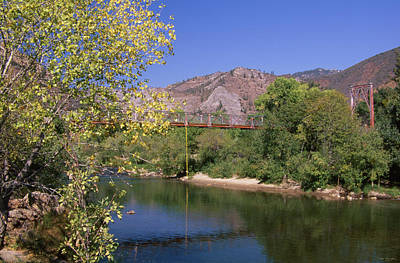 Fairview Bridge - North Fork Kern River Art Print by Soli Deo Gloria Wilderness And Wildlife Photography