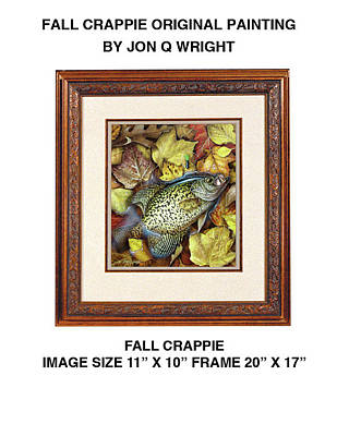 Panfish Painting - Fall Crappie by Jon Q Wright