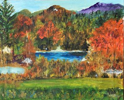 Painting - Fall In The Adirondacks by Lucille  Valentino