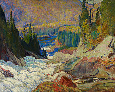 Painting - Falls, Montreal River by James Edward Hervey MacDonald